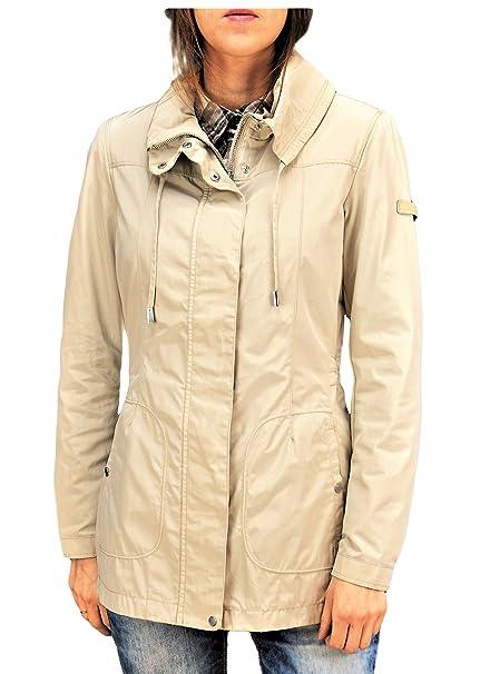Geox - Abrigo impermeable - para mujer beige 46: Amazon.es: Ropa y accesorios
