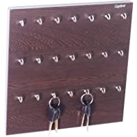 Captiver 21 Hook Key Holder Box Wenge/Wall Mounted Keychain Rack Cabinate Storage Stand