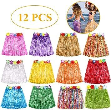 Amazon.com: Falda de hierba hawaiana Luau Hula faldas de ...