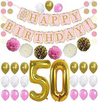 Amazon.com: KatchOn - Kit de decoración para 50 cumpleaños ...