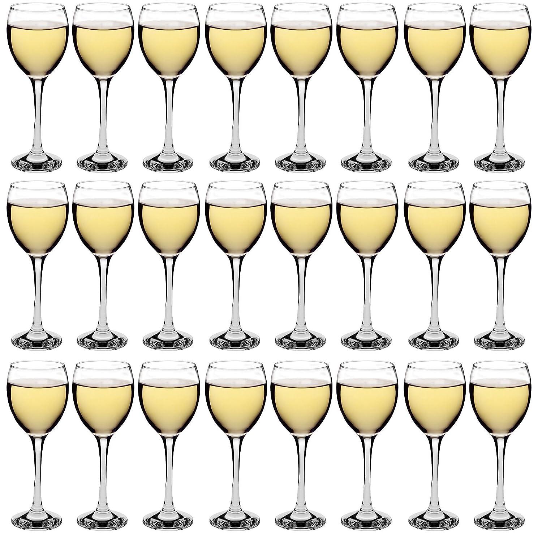 Argon Tableware White Wine Glasses - Party Pack of 24 Glasses - 245ml (8.6oz)