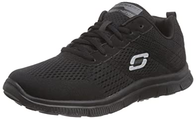 Skechers Flex Appeal Obvious Choice Damen Sneakers  Schwarz (Bbk)