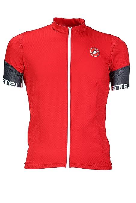 Amazon.com   Castelli Entrata 2 Full-Zip Jersey - Men s Red 4d8a9a094