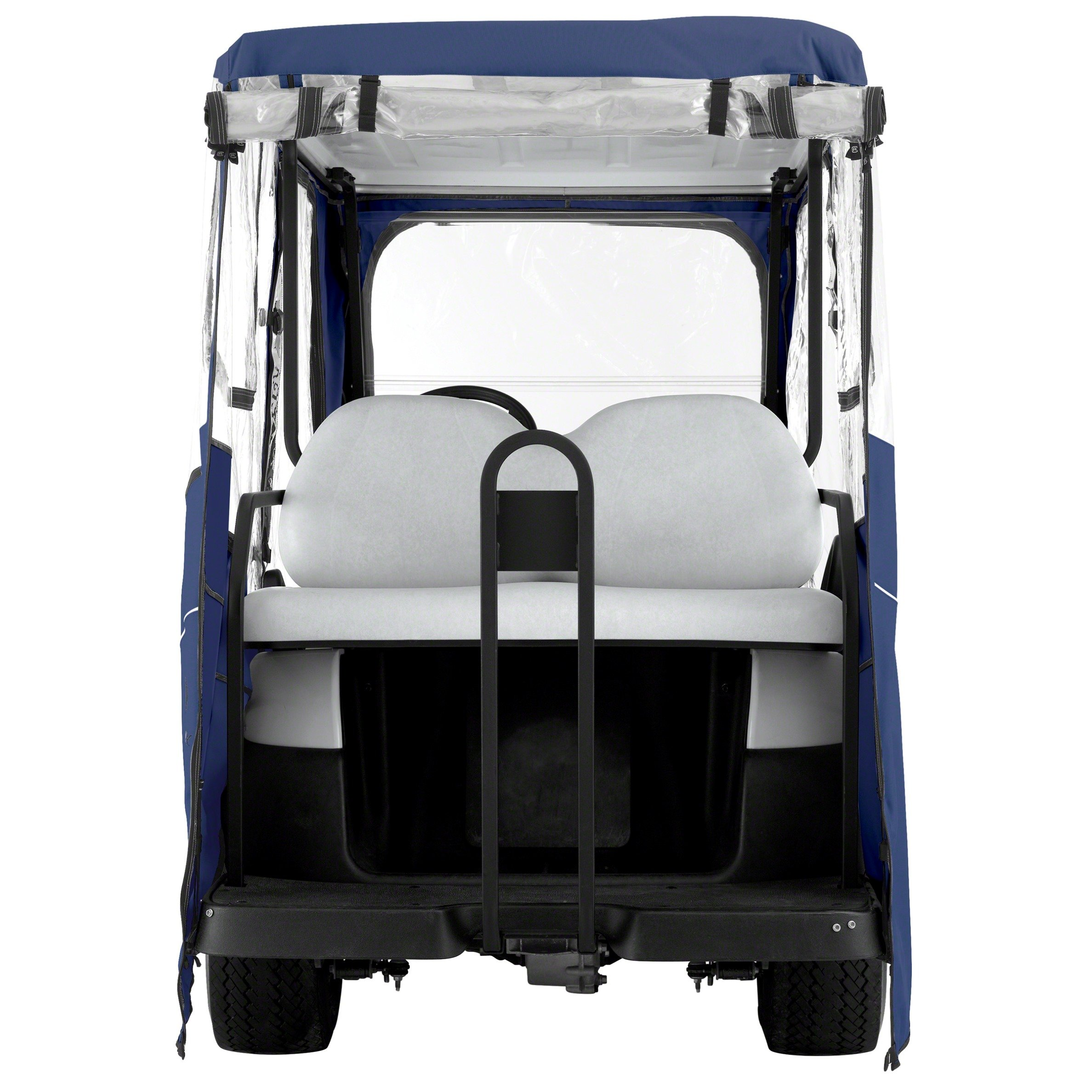 Classic Accessories Fairway Golf Cart Deluxe Enclosure, Navy, Long Roof by Classic Accessories (Image #4)
