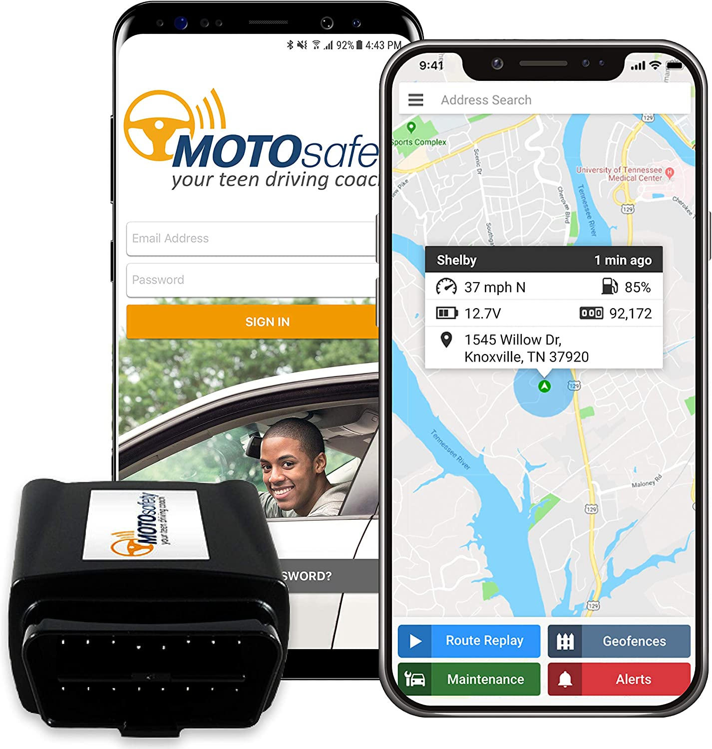 MotoSafety OBD Car Tracker
