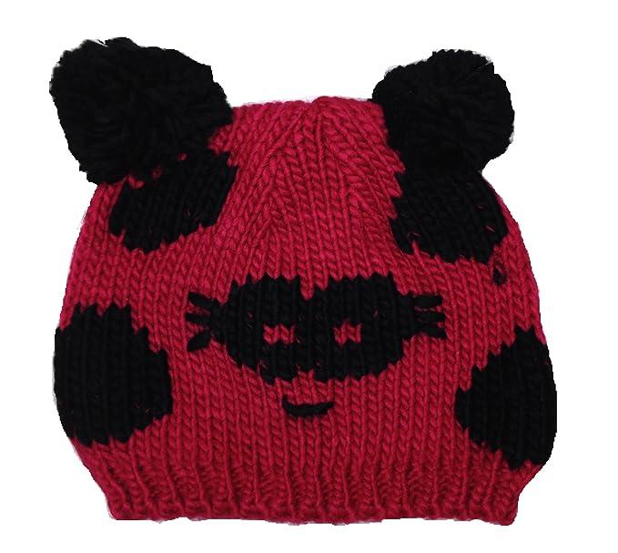 Central Chic Bambini bambini piccoli panda Beanie cappello invernale con  pompon orecchie  Amazon.it  Abbigliamento a14ce332cd46