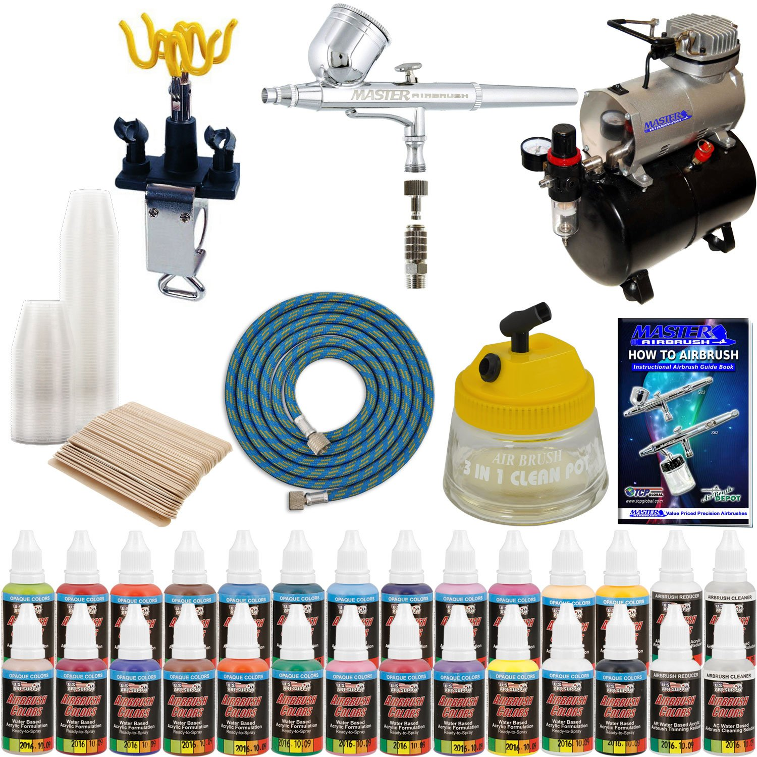MASTER G22 Multi-purpose Airbrush Kit With Airbrush Depot Compressor and 24 color Set of Paints by Master Airbrush (Image #6)