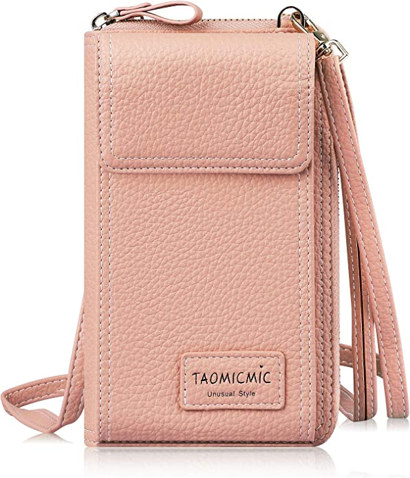 Cell Phone Purse Mardi Gras Party Crossbody Bag Womens Lightweight Portable Small Wallet Waterproof PU Leather Mini Shoulder Bag Easy Care Phone Wallet For Shopping Date Hiking