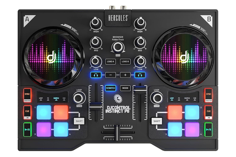 DJ Hercules DJ Control Instinct P Mesa mezclas DJ ultraportátil con pads