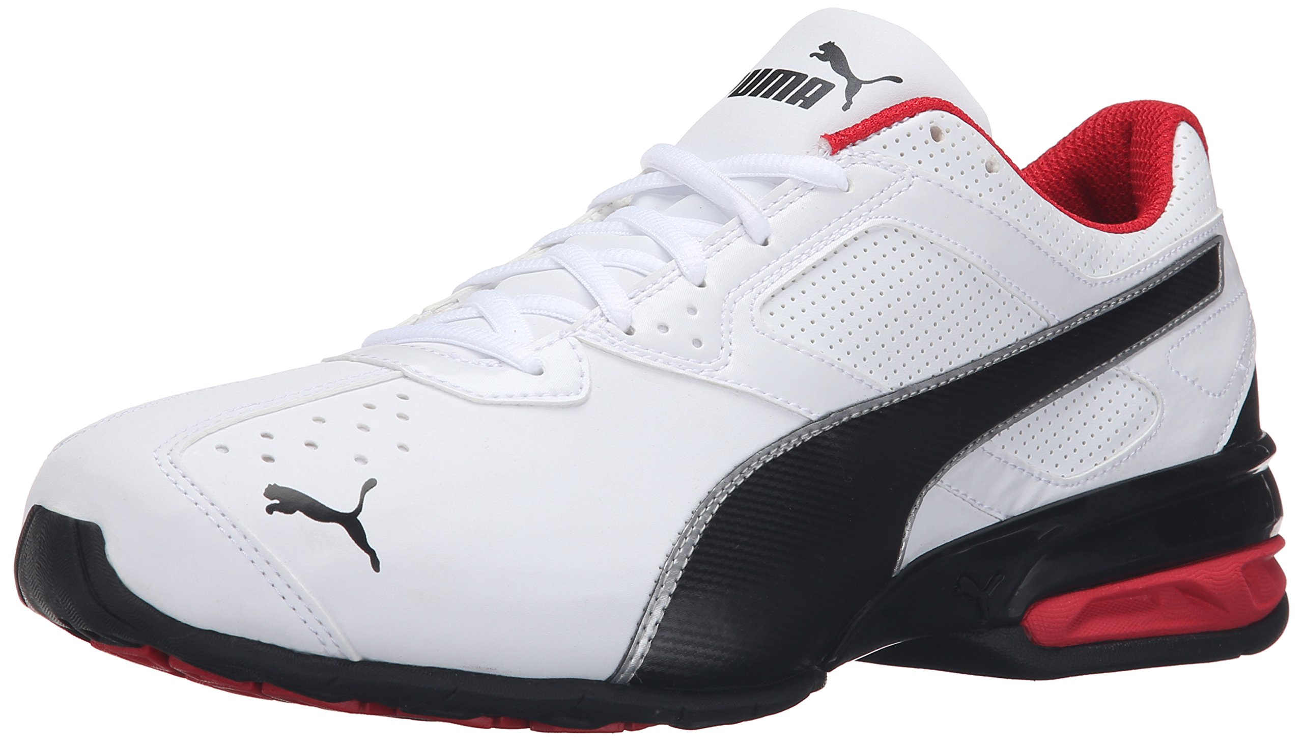 PUMA Men's Tazon 6 FM Puma White/ Puma Black/ Puma Silver Running Shoe - 11 D(M) US by PUMA