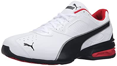33d53e269d1 PUMA Men s Tazon 6 FM Puma White  Puma Black  Puma Silver Running Shoe -