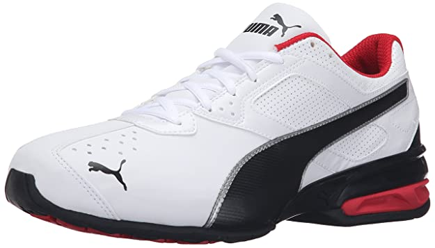 PUMA Men's Tazon 6 FM Puma White/ Puma Black/ Puma Silver Running Shoe - 8 2E US