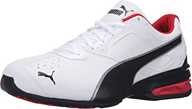 PUMA Men's Tazon 6 FM Puma White/ Puma Black/ Puma Silver Running Shoe - 10 D(M) US