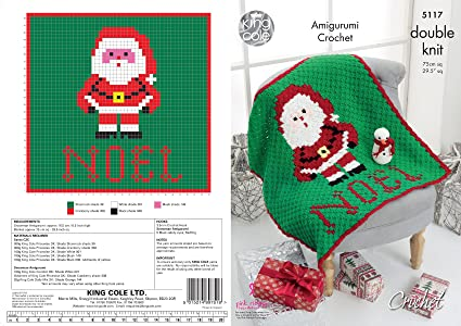 King Cole Double Knit Crochet Pattern Christmas Corner To Corner