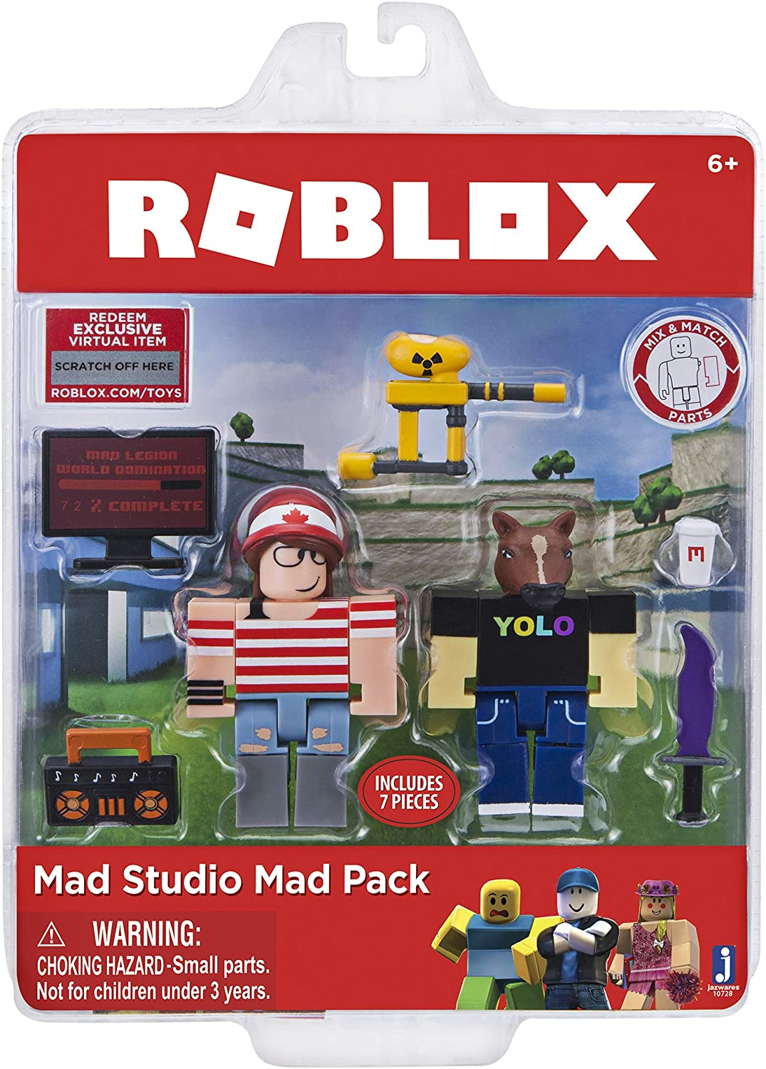 Roblox Character Mad Amazon Com Roblox Action Collection Mad Studio Mad Pack Game Pack Includes Exclusive Virtual Item Toys Games