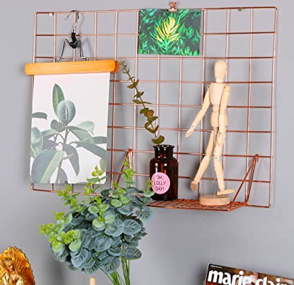 Hosal Rose Gold Grid PanelWall Decor/ Photo Wall/ Wall Art Display/  sc 1 st  Amazon.com & Amazon.com: Hosal Rose Gold Grid PanelWall Decor/ Photo Wall/ Wall ...