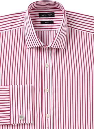 Mens Austin Reed Shirt Pink Stripe Ls Collar 16 5 L Slim Fit Big Tall Amazon Co Uk Clothing