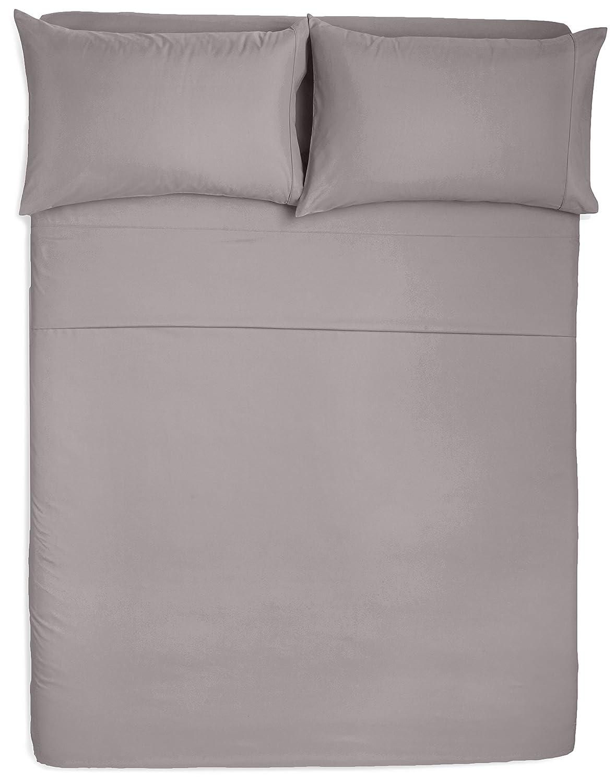 Best places to buy bedding - Amazon Com Amazonbasics Microfiber Sheet Set Queen Dark Grey Home Kitchen