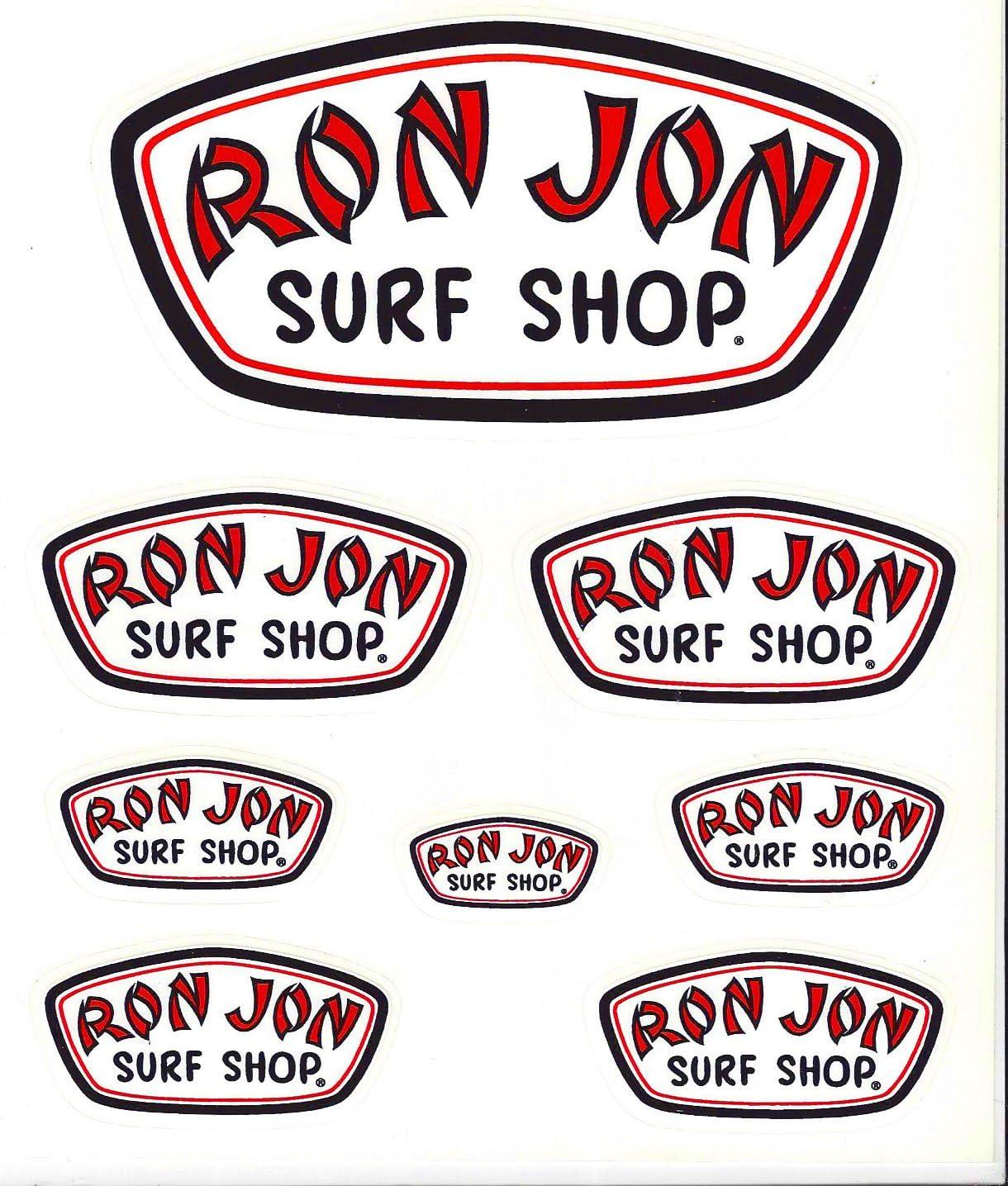 Ron Jon Surf Shop adhesivo Hoja de 8: Amazon.es: Coche y moto