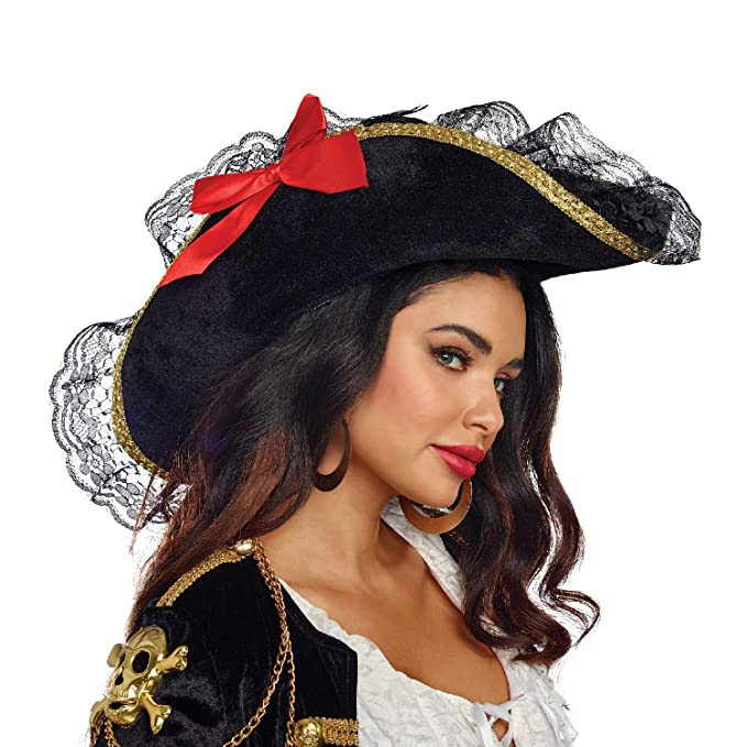 Amazon.com  Dreamgirl Women s Pirate Hat (Woman s) 0054d8dfb3a3