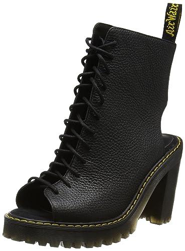 Dr. Martens Womens Carmelita Open Heel Lace Up Boot Black