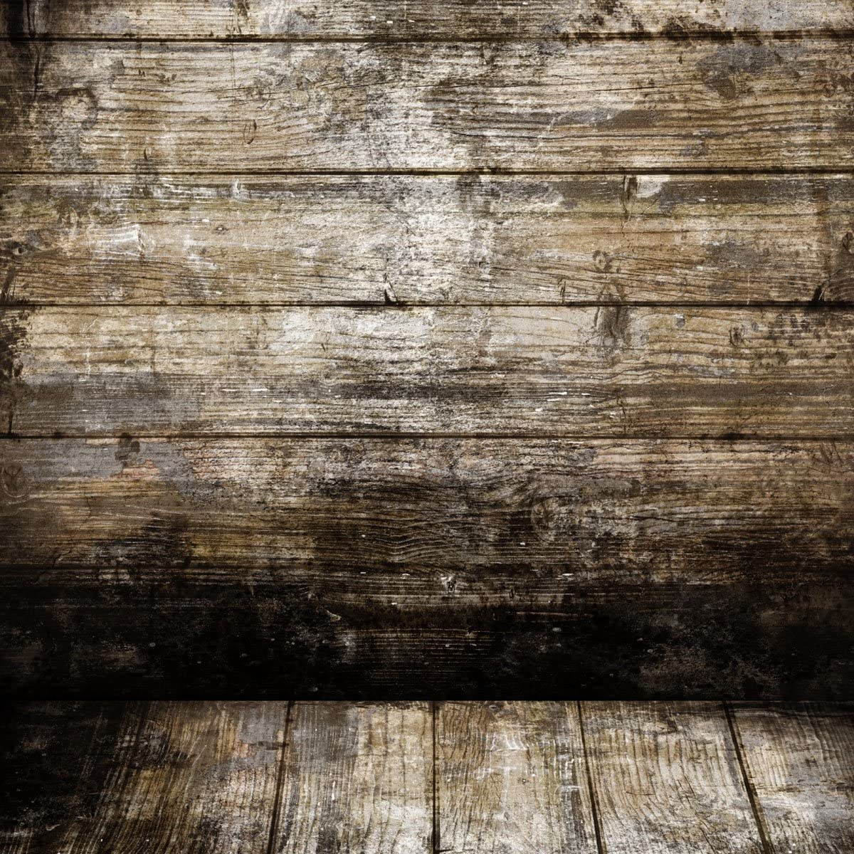 5x7ft Vinyl Backdrop Photography Background,Blurry Smooth Brown Color Brick Wall Wood Stripes Floor Scene Children Kids Adults Baby Photo Portraits Background for 1.5x2.2M Photo Studio Props