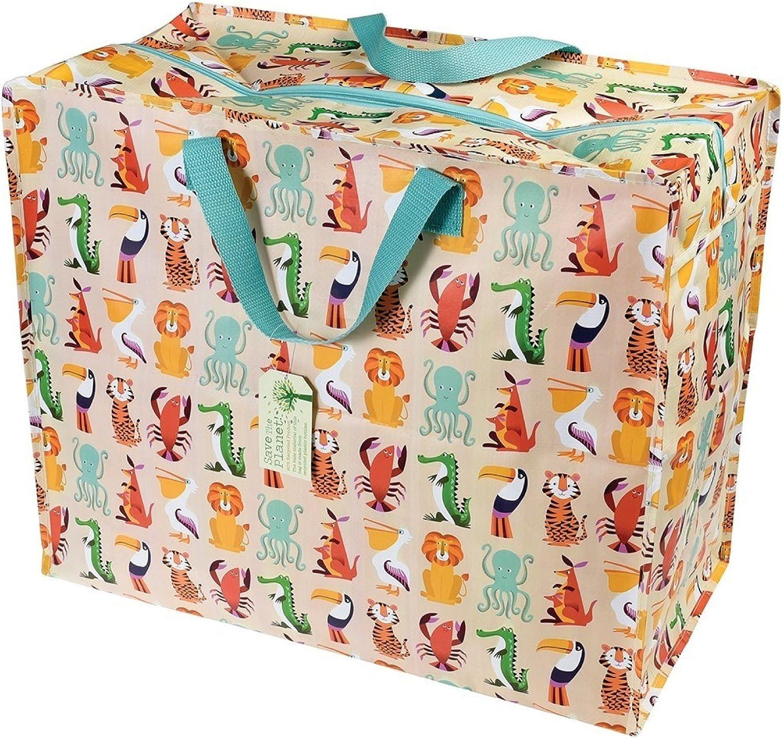Rex London Bolsa Reutilizable Colourful Creatures, 70 litros, Plástico