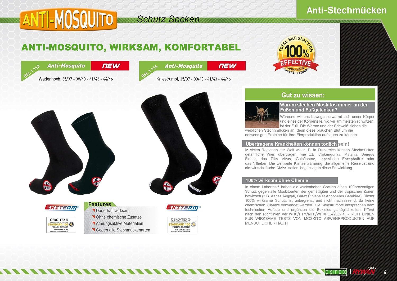 Rywan Anti-moskito M/ückenschutz Socken Chaussettes Mixte