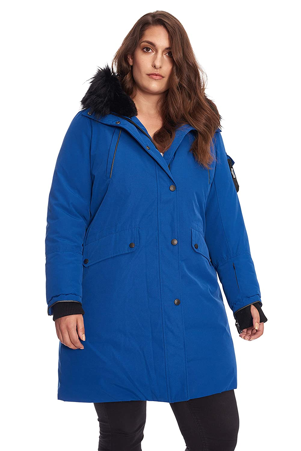 Image of Alpine North Size Womens Vegan Down Long Parka Winter Jacket Plus Down Jackets & Parkas