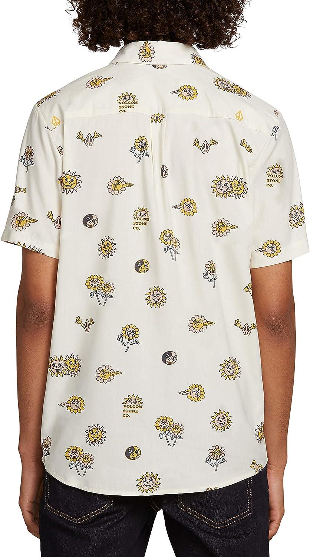 Volcom Mens Peace Stone Button Up Short Sleeve Shirt