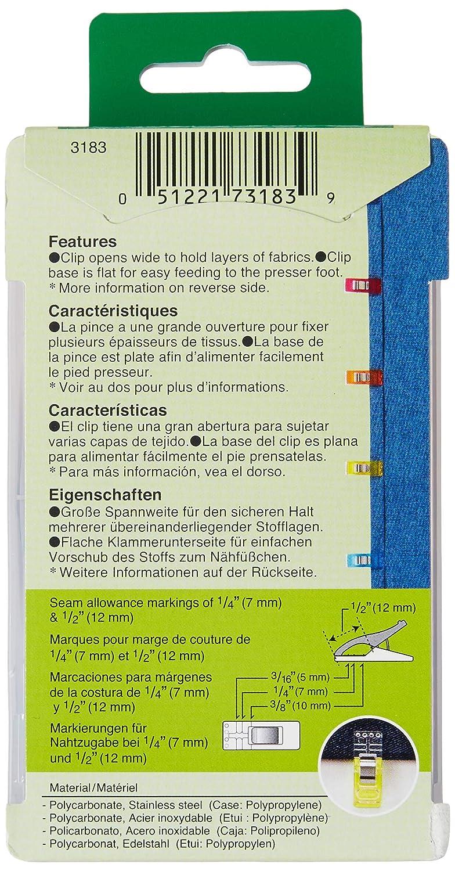 CLOVER 3183 50-Piece Wonder Clips Assorted Colors Renewed