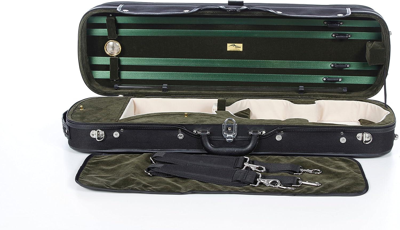 Estuche para violín Madera, 4/4 Color Verde Oliva M-Case: Amazon.es: Instrumentos musicales