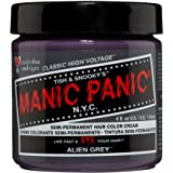 Manic Panic Alien Grey Hair Dye – Classic High Voltage - Semi-Permanent Hair Color - Cool, Medium Slate Grey Shade - Vegan, PPD & Ammonia-Free - For Coloring Hair on Women & Men