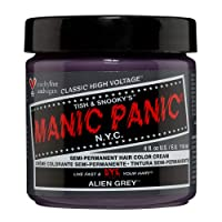 Manic Panic Alien Grey Hair Dye – Classic High Voltage - Semi-Permanent Hair Color...