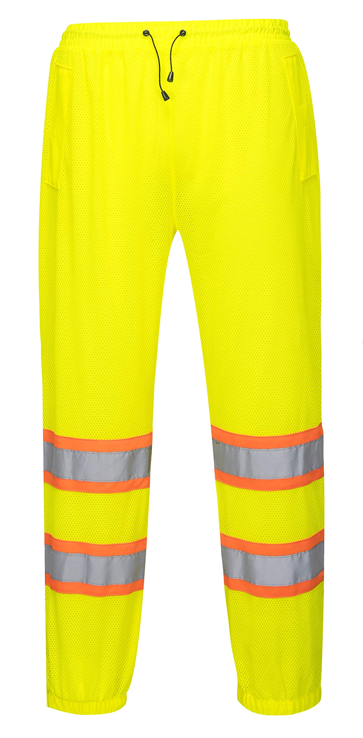 Mesh Overpants for Men and Women - General Work Wear - Ansi Class E, High Visibility (Small/Medium, Yellow)