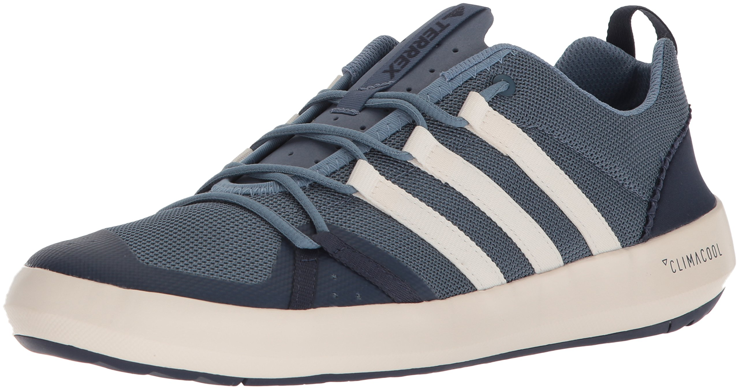 adidas outdoor Men's Terrex CC Boat Walking Shoe, Raw Grey/Chalk White/Ash Grey, 10.5 D US