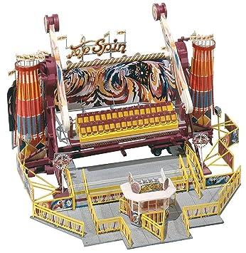Faller 140431 Carrusel Top Spin - Maqueta de atracción de feria Top Spin para montar (
