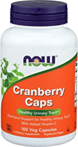NOW Supplements, Cranberry Caps with Added Vitamin C, 100 Capsules