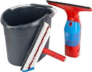 Vileda Windomatic - Aspiradora limpiacristales con limpiacristales profesional y un cubo: Amazon.es: Bricolaje y herramientas