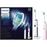 Philips Sonicare - CleanCare Cepillo dental eléctrico sónico HX3212/61, Batería, 110-220 V, 2 pieza(s)