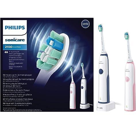 Philips Sonicare - CleanCare Cepillo dental eléctrico sónico HX3212/61, Batería, 110-220 V, 2 pieza(s): Amazon.es: Salud y cuidado personal