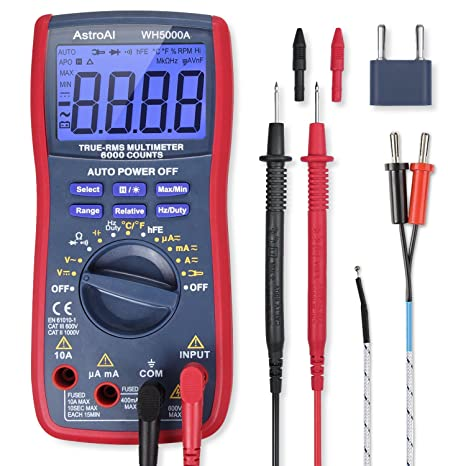 Astroai Digital Multimeter Trms 6000 Counts Volt Meter Manual And