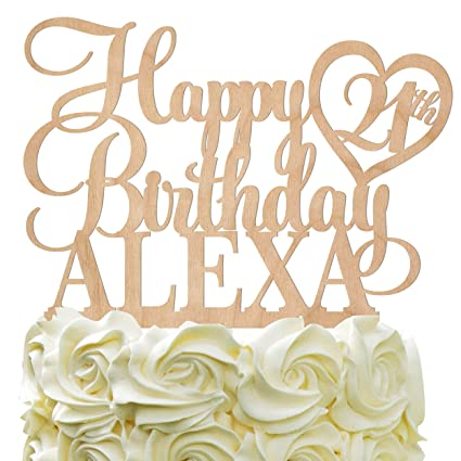 Happy Birthday Personalized Name Cake topper,