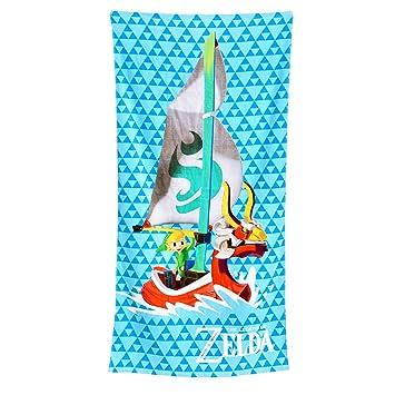 Toalla de playa Zelda Rey de leones rojos Toalla de playa Wind Waker Bosque elfo de Nintendo 71x140cm: Amazon.es: Juguetes y juegos