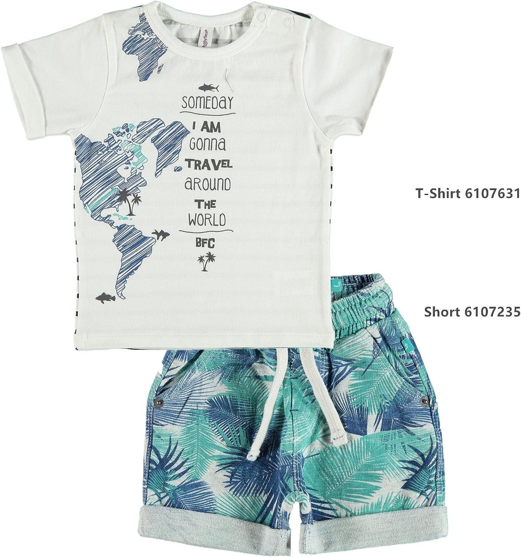 0 /à 24 Mois Turquoise Turquoise Gar/çon Babyface Shirt B/éb/é