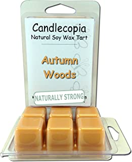product image for Candlecopia Autumn Woods Strongly Scented Hand Poured Vegan Wax Melts, 12 Scented Wax Cubes, 6.4 Ounces in 2 x 6-Packs