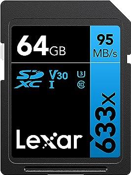 Tarjeta Lexar Professional 633x 64GB SDXC UHS-I