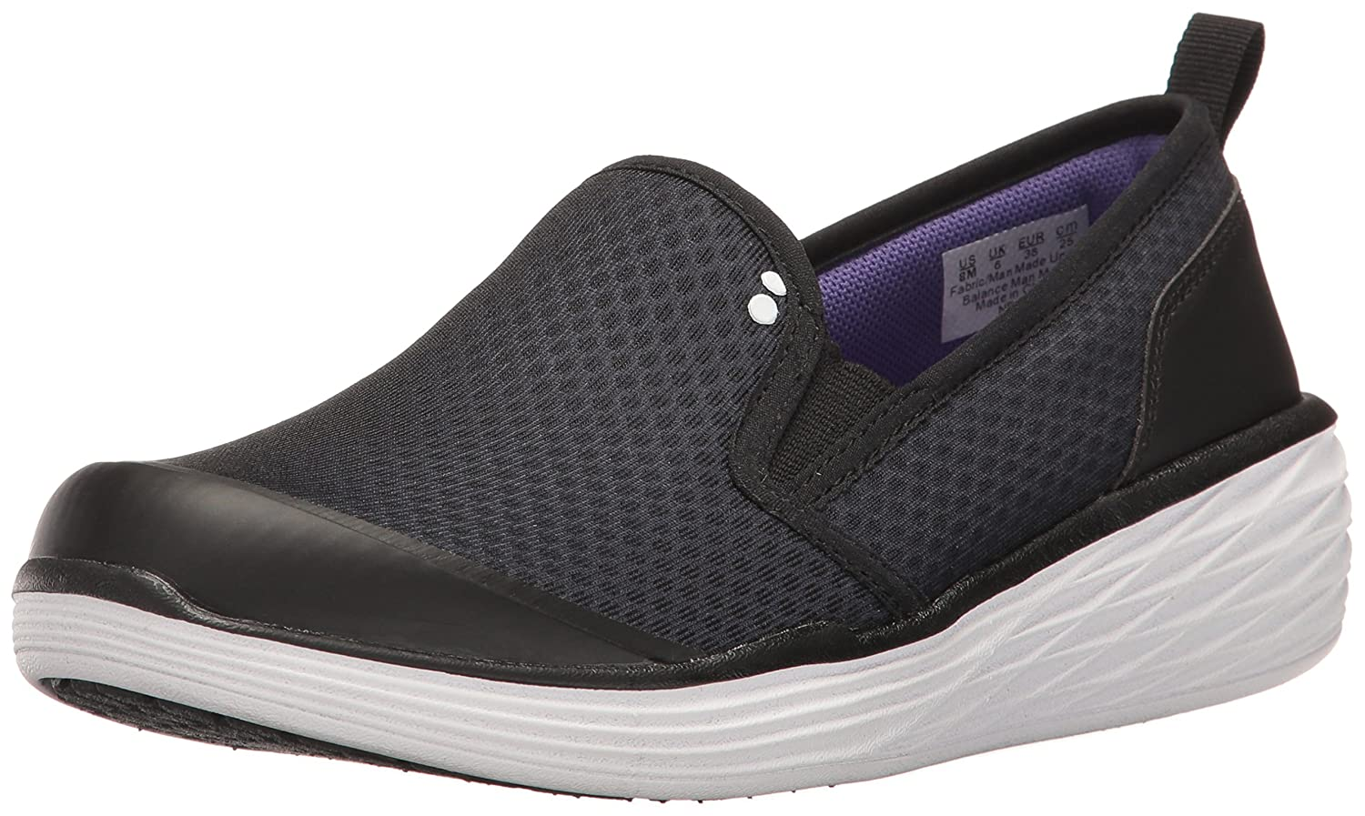 Ryka Women's Neve Fashion Sneaker 7.5 W US|Black/Purple