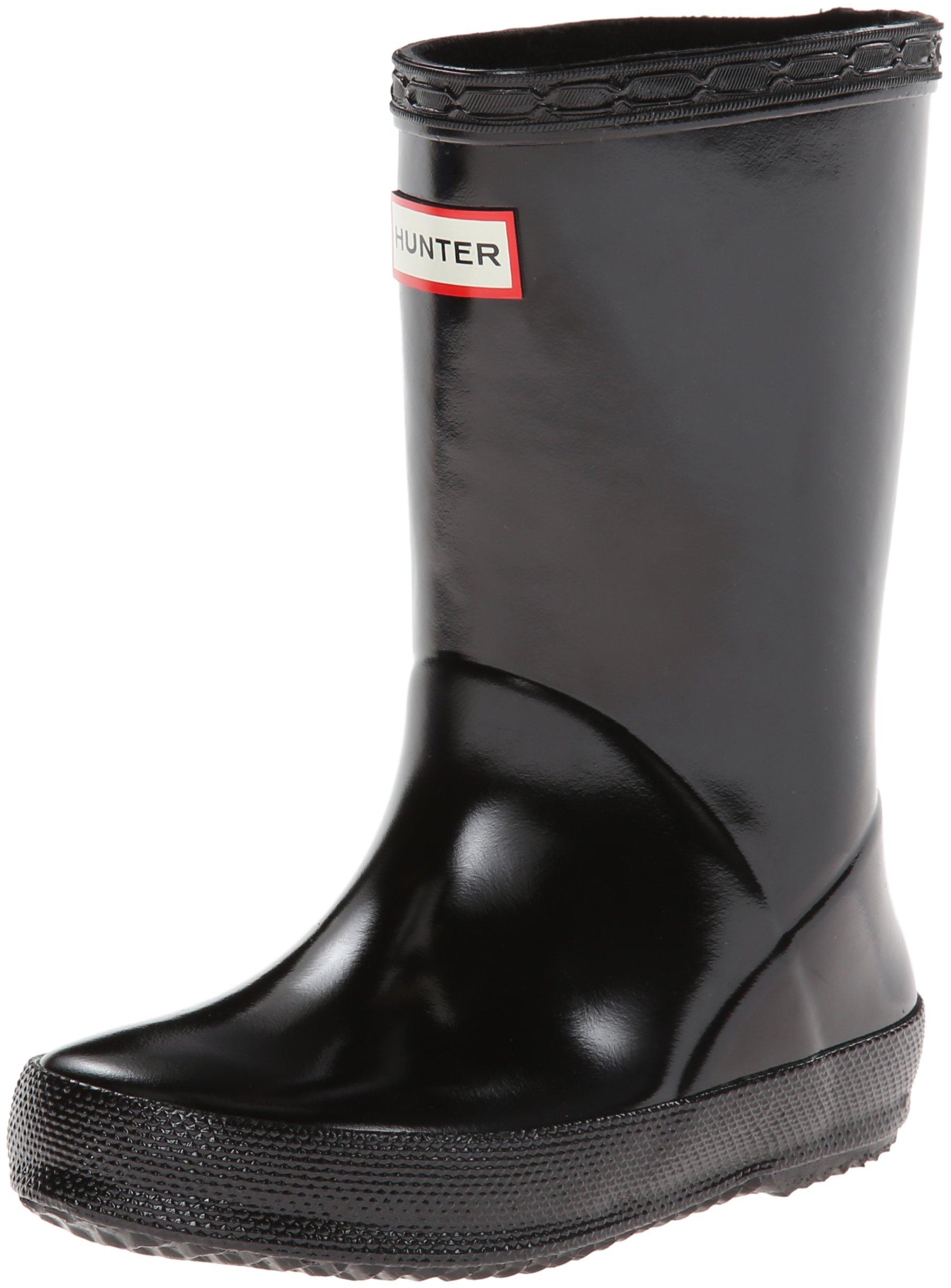 Hunter Kids Original Gloss Black Rain Boot - 2