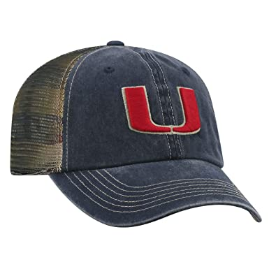 big sale d2b88 23563 Image Unavailable. Image not available for. Color  Top of the World NCAA  Miami Hurricanes Flagtacular Mesh Hat Blue Adjustable